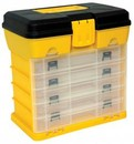 Homak HMHA01040121 Yellow Portable Plastic Parts Orginizer