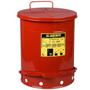 JUSTRITE 09500 Step On 14G Oily Waste Can W/Lever