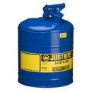Justrite JT7150300 SFTY CAN BLUE 5 GAL TYPE 1