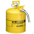 Justrite JT7250230 5 Gallon Yellow Safety Can