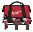 Milwaukee 2491-23 +Combo 3Tool 12V Drvdrl/Imp/Li-Ion Kit