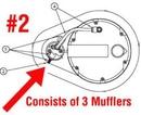 A & A Hydraulic Repair 822644 Kit, Exhaust Muffler For Mv7300