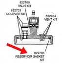A & A Hydraulic Repair 822706 Reservoir Gasket Kit, Bb2000