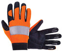 Sas  Safety SA6362 Glove Med Orange Mech W/Reflect Tape