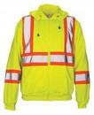 SAS Safety Corp Sweatshirt Hood Cls 2 Hi Viz-L