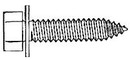 W & E WE5980 8X35MM INDENTED HEX BOLT BLK 25PK