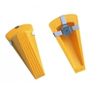 Master Manufacturing 00967 Magnetic Giant Foot Doorstop, Yellow, 1/pk