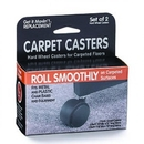 Master Manufacturing 23600 Get it Movin' Carpet Casters for Metal Bases, 2/pk