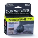 Master Manufacturing 23602 Get it Movin' Chair Mat Casters for Metal Bases, 2/pk