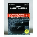 Master Manufacturing 23604 Get it Movin' Carpet Casters for Metal Bases, 5/pk