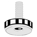 Master Manufacturing G-118-P-5 Machine Screw Glide, Plastic Base, 1-1/8