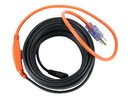 Monoprice 35385 12ft 84 Watts Electric Water Pipe Heater Black Cable connected to a 2ft 18/3 SJTW Orange Power Supply Cord