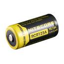 NITECORE NCNL166 RCR123A Rechargeable Battery, 650mAh