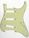 Fender Standard Stratocaster Guitar Pickguard '62 Mint Green Truss Rod Notch 11 Hole 3 Ply S/S/S