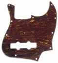 Mojotone Electric Guitar Pickguard For Jazz Bass Red Tortoise 3 Ply