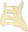 Mojotone Electric Guitar Pickguard For '62 Strat Parchment 3 Ply