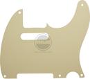 Mojotone Electric Guitar Pickguard For Tele 5 Hole Parchment 1 Ply