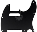 Mojotone Electric Guitar Pickguard For Tele 8 Hole Black 3-Ply