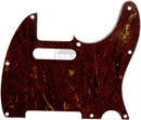 Mojotone Electric Guitar Pickguard For Tele 8 Hole Red Tortoise 3-Ply