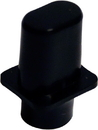 Tele Top Hat Selector Switch Tip Inch Sized (Black)
