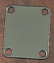 Fender Vintage Style Plain Neck Plate With Screws Chrome