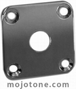Gibson Style Curved Jack Plate Chrome