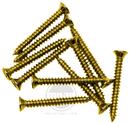 Mojotone Humbucker Mounting Ring Screws Gold / 10