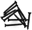 Mojotone Humbucker Mounting Ring Screws Black / 10