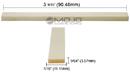 Acoustic Guitar Bone Saddle Blank (3-9/16