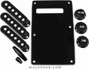 Strat Accessory Kit Black W/3 Ply Backplate