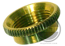 Deep Thread Round Nut For Switchcraft 3-Way Toggle Switches Gold