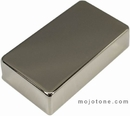 Mojotone Nickel Silver Humbucker Cover with No Holes