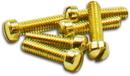 Short Humbucker/P90 5-40 Polepieces Gold (1022 Steel)