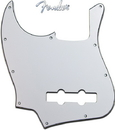 Fender Lefty Standard Jazz Bass Guitar Pickguard White 3 Ply