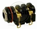 Gold Plated J1 Jack 4-Solder Lugs W/ Chrome Nut