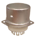 9-Pin Ceramic Chassis Mount Tube Socket With Tube Shield Bas