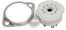 9-Pin Ceramic Chassis Mount Tube Socket (2-Piece)