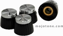 Mojotone British Style Set Screw Knob (Silver) Set Of 8