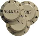 Fender Strat Aged White 1 Vol. 2 Tone Guitar Knobs