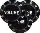 Fender Strat Black 1 Vol. 2 Tone Guitar Knobs