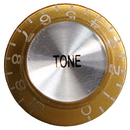 Top Hat Tone Knob (Gold/Silver)
