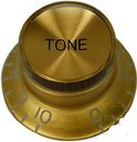 Top Hat Tone Knob (Gold/Gold)