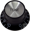 Top Hat Tone Knob (Black/Silver)