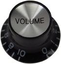 Top Hat Volume Knob (Black/Silver)