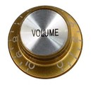 Top Hat Volume Knob (Gold/Silver)