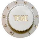 Strat Tone Knob (White)