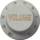 Strat Volume Knob (White)