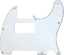 Mojotone Electric Guitar Humbucker Cutout Pickguard For Tele 8 Hole White 3-Ply