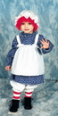 Morris Costumes 12-114 Raggedy Ann Child 4 To 6