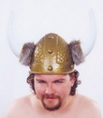 Morris Costumes 95-001 Viking Helmet Gold 1 Sz